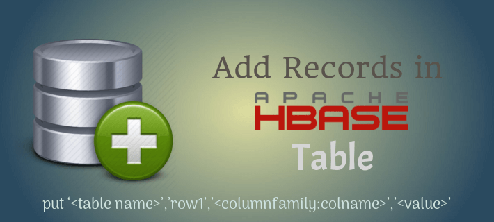 Insert Data in HBase Table