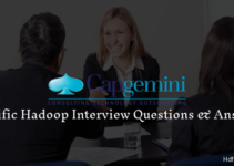 Capgemini Hadoop Interview Questions and Answers