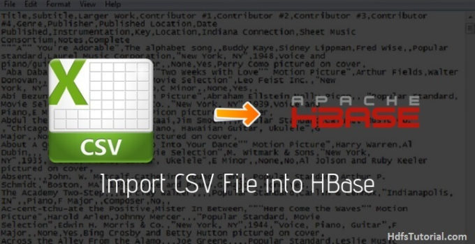 Import CSV File into HBase using importtsv