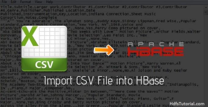 Import CSV File into HBase using importtsv