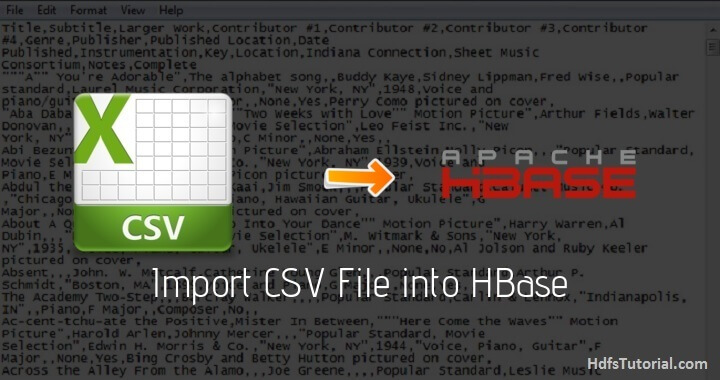 How to Import CSV File into HBase using importtsv - HDFS