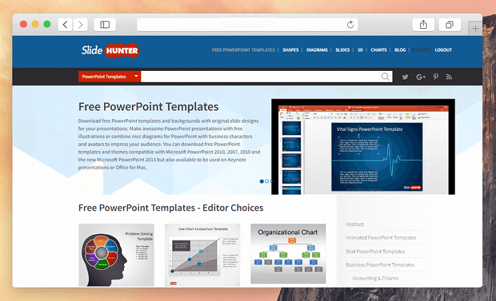 Slidehunter Review Get Free Powerpoint Templates