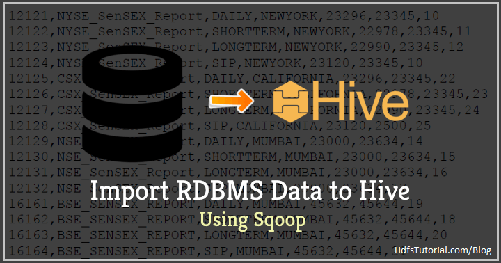 How to Import Data in Hive using Sqoop