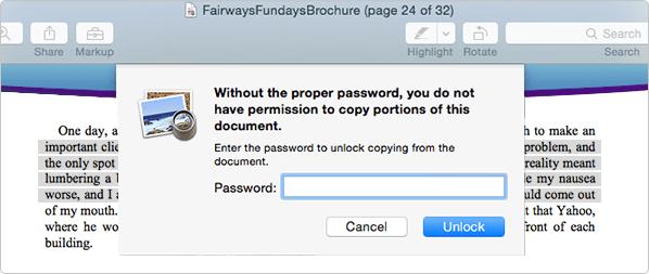 unlock pdf password mac