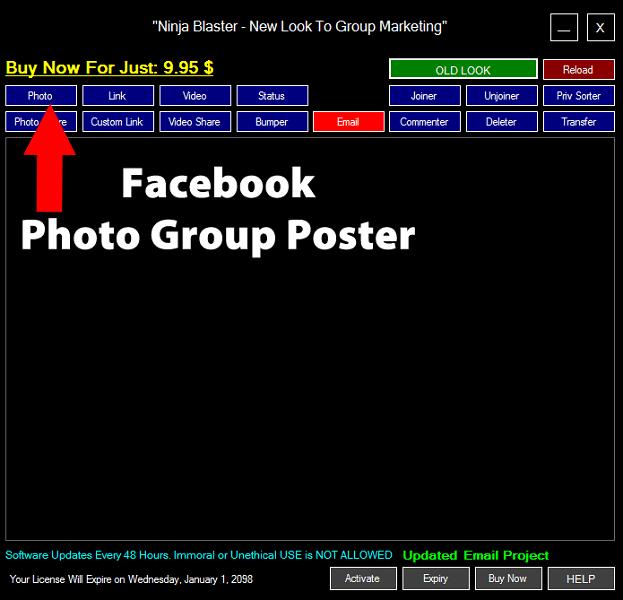 Ninja Blaster Facebook Group Poster