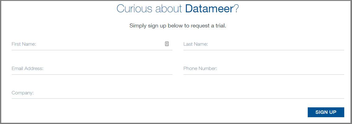 Datameer Free Trial