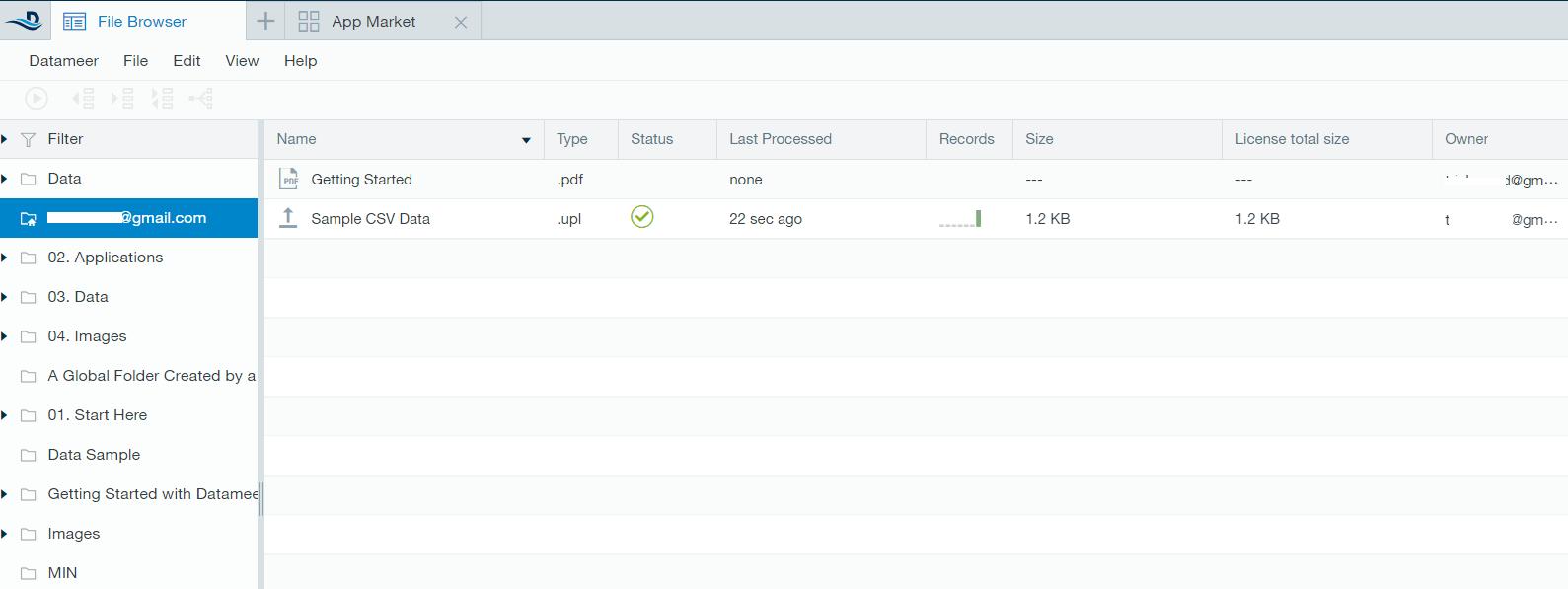 Datameer Interface