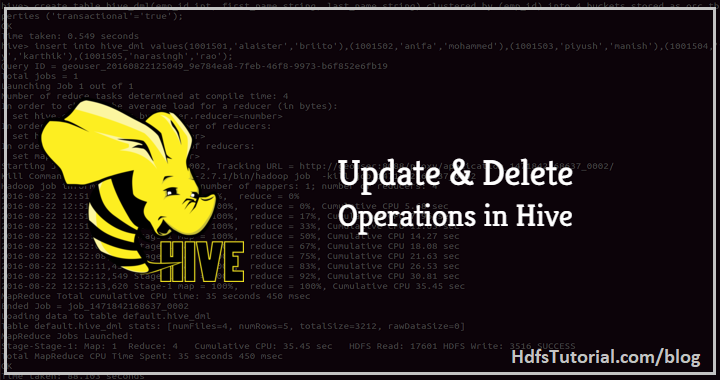 How to Update Delete Hive Tables [Enable ACID Proprties in Hive]