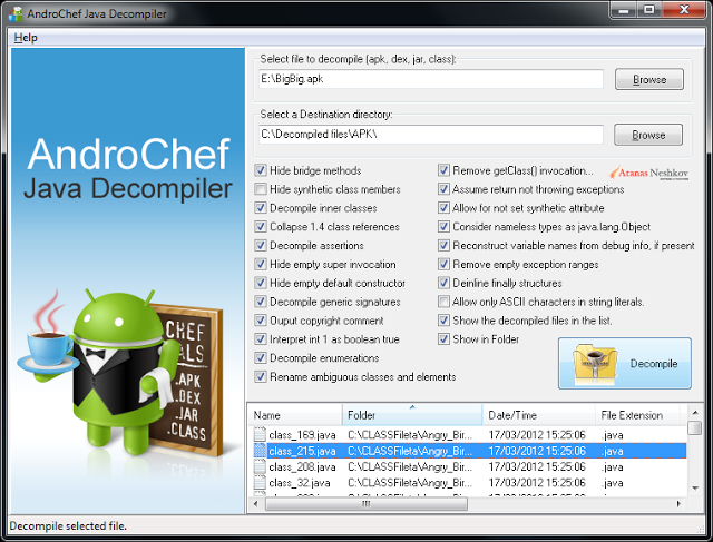 AndroChef Java Decompiler