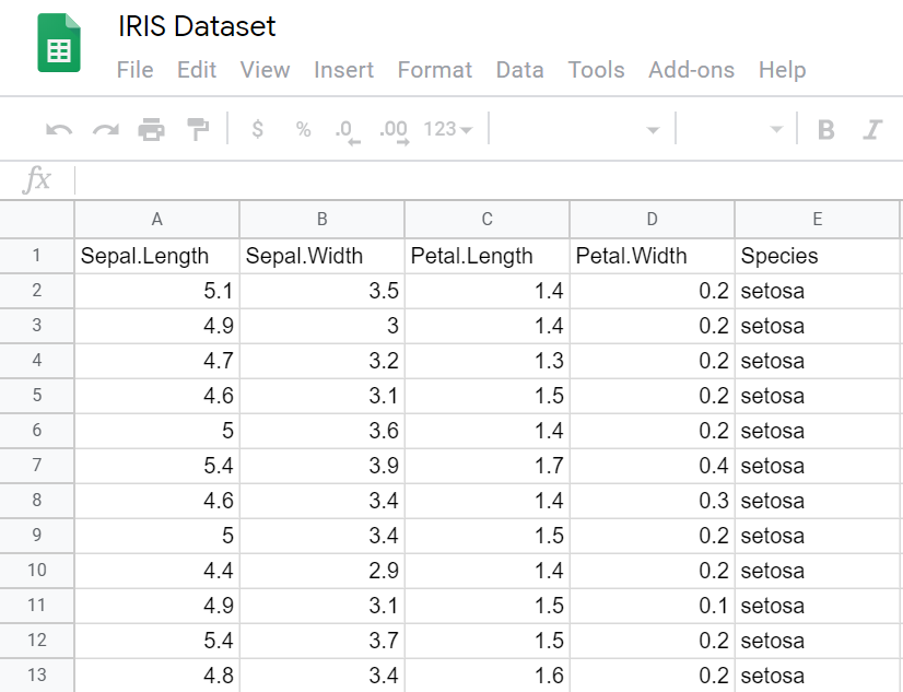 Details of the created Google sheet file using R