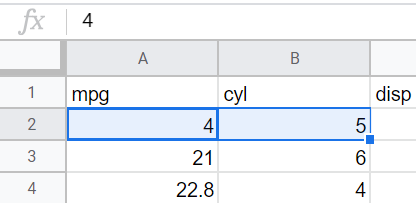 Google sheet file details