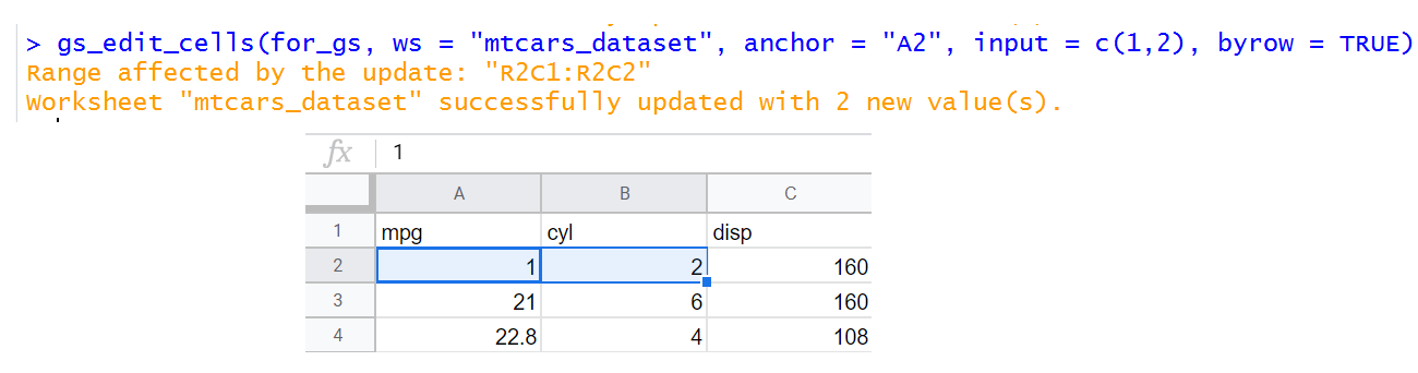 make Google sheet file using R