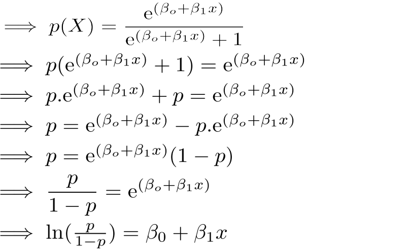 derive logistic regression