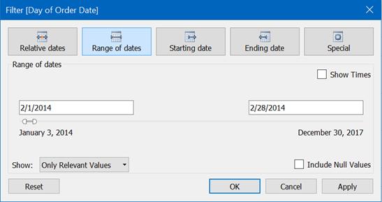 Add Date Filter Tableau