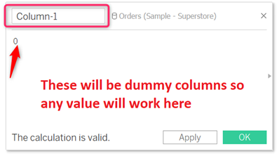 Create dummy variable in Tableau