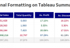 Tableau Table conditional formatting
