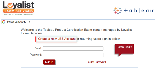 Tableau Certification Exam Scheduling