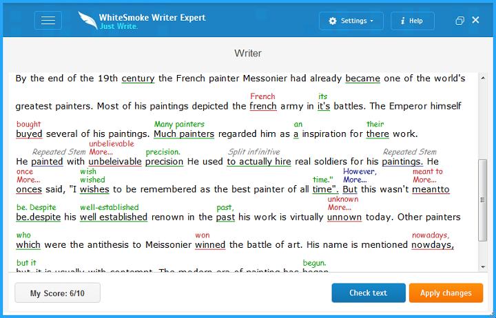 Whitesnmoke Grammar Checker Editor